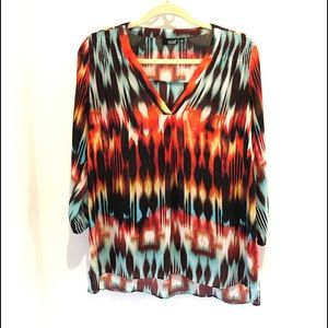a.n.a boho tunic blouse | v-neck | hi-low | medium